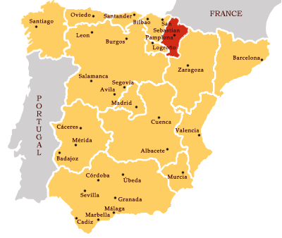 Map Of Spain Navarra.Category Navarra The Wineknitter
