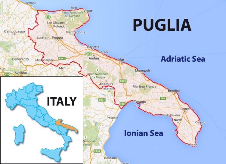 Map Of Italy Puglia Region.Day 662 Viaggio In Puglia The Wineknitter